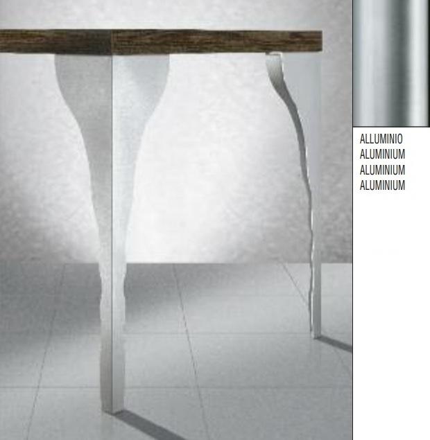 Gamba per tavoli trapezio ART 273 60x20 mm H71 Alluminio
