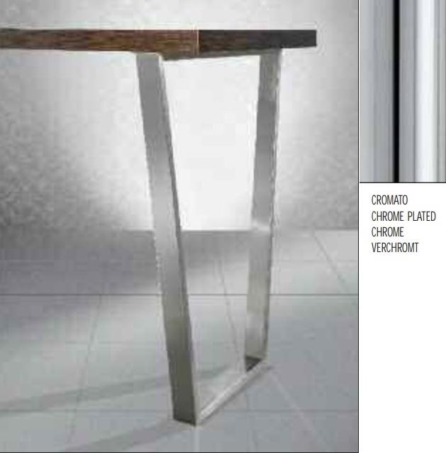 Gambe Cromate Per Tavoli.Gamba Per Tavoli Trapezio Art 273 60x20 Mm H87 Cromo