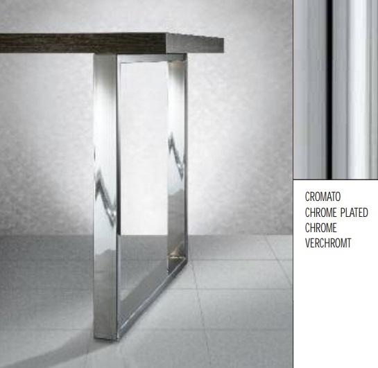Gambe Per Tavoli Cromate.Gambe Per Tavoli 60x20 Mm Art 266 H71 L70cm Cromo