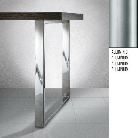 Gambe In Alluminio Per Tavoli.Gambe Per Tavoli 60x20 Mm Art 266 H71 L80cm Alluminio