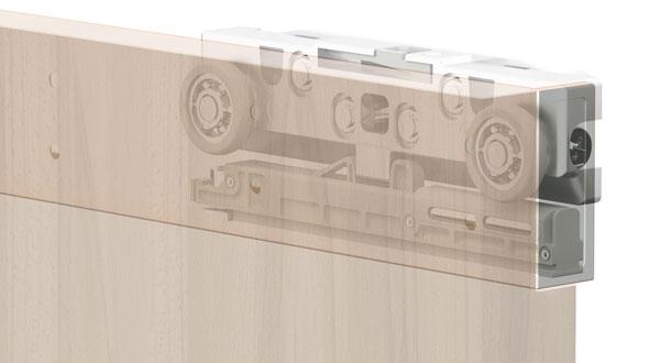Kit terno magic per porta scorrevole binario invisibile da 80kg