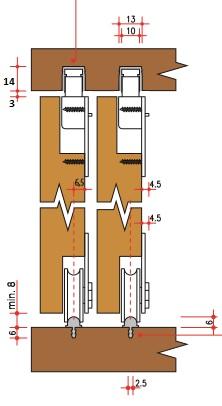 Carrelli Per Ante Scorrevoli Armadio.Sistema Villes 2150 Ante Scorrevoli Per Armadi Ante Interne